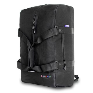 JWorld New York Black Duncan 19-inch 3-way Weekender Duffel/ Backpack