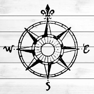 Marmont Hill - Handmade Compass White Wood Art