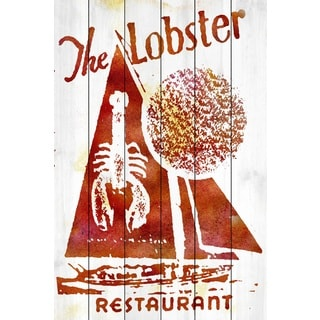 Marmont Hill Art Collective 'Lobster Restaurant' White Wood Art
