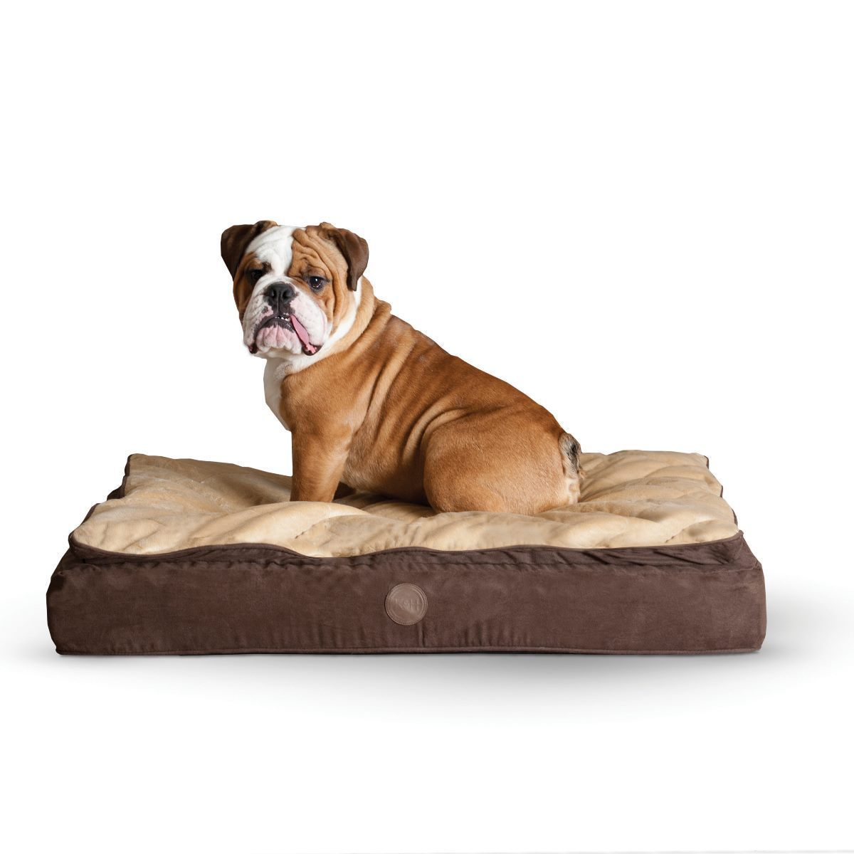 K&H Pet Products Feather Top Ortho Bed (Large Black/Gray ...