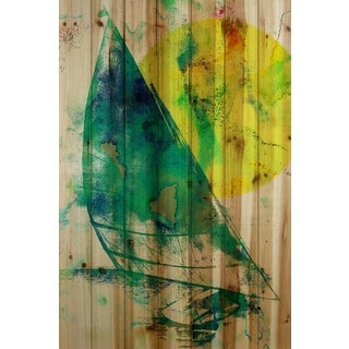 Marmont Hill Art Collective 'Sail Away' Natural Pine Wood art
