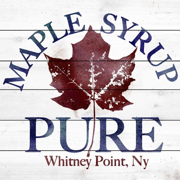 Marmont Hill Art Collective  'Pure Maple Syrup' White Wood Art