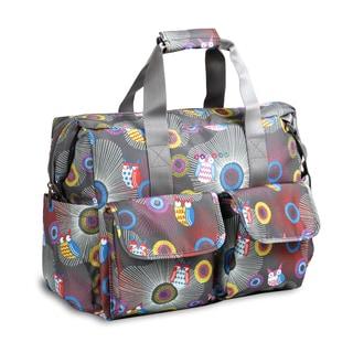 JWorld NewYork Blazing Owl Amber Weekender Duffel Tote Bag