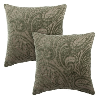 Sherry Kline Chenille Scroll Paisley 20-inch Reversible Pillow (Set of 2)