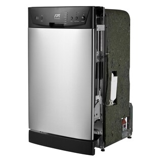 SPT Energy Star 18-inch Built-In Dishwasher - Stainless Steel