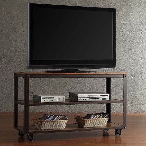 Industrial Tv Stand And Coffee Table: Shop Granger Industrial Rustic Storage Metal Frame TV