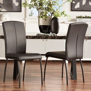 INSPIRE Q Danbury Metal Contoured Upholstered Dining Chair (Set of 2)