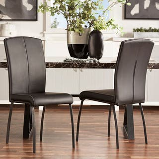 Danbury Metal Contoured Upholstered Dining Chair  Set of 2  by iNSPIRE Q  Bold. Metal Dining Room   Kitchen Chairs For Less   Overstock com
