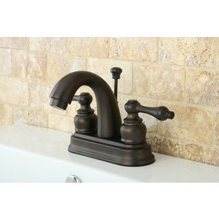 Classic Oil Rubbed Bronze Double-handle Bathroom Faucet
