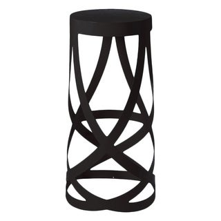 Mod Made Black Ribbon Metal Whirl Barstool-31.5 Inch High