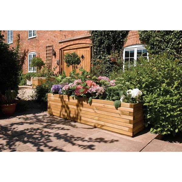 english garden extra large 70 x 15 wood planter free shipping today
