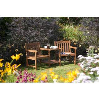 English Garden Wood Companion Chair with Table
