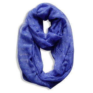Peach Couture Periwinkle Nautical Anchor Infinity Scarf