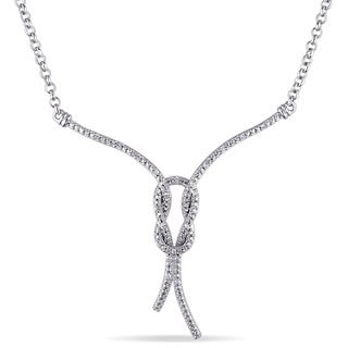 Miadora Sterling Silver 1/10ct TDW Diamond Necklace (G-H, I2-I3)