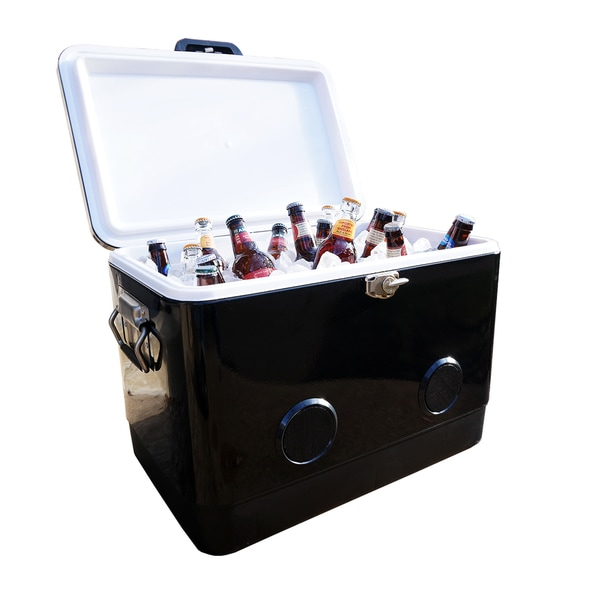 BrekX 54 Qt. Black Party Cooler with Speakers