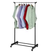 """Adjustable Rolling Garment Rack-Adjusts from 39.5"""" to 60"""" High"""
