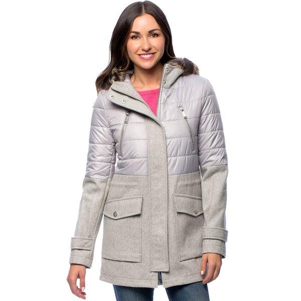 74e28f1a5da8f Shop BCBG Mixed Media Faux Fur Hooded Anorak Coat - Free Shipping ...