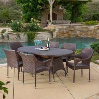 Lennox Outdoor 7-piece Wicker Dining Set by Christopher Knight Home