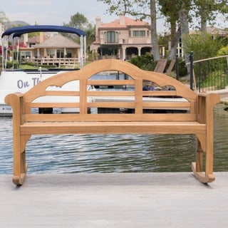 Christopher Knight Home Outdoor Abbey Acacia Wood Rocking Bench