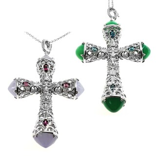 Dallas Prince Silver Cross Enhancer Pendant