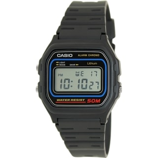 Casio Men's W59-1V Black Resin Quartz Watch