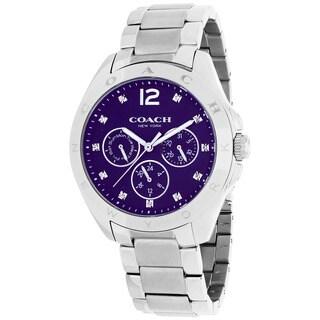 Coach Women's 14502070 Tristen Round Silvertone Bracelet Watch