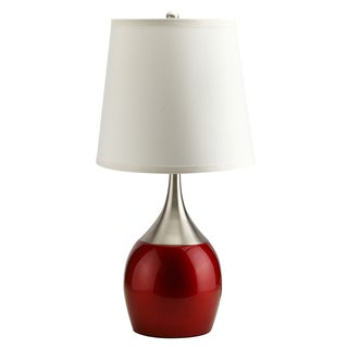 Journee Home 'Chrome Abstract' 24 inch Two-tone Touch-on Table Lamp