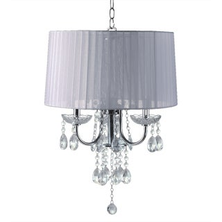 Journee Home 'Elegance' 24 inch Crystal Drop Chandelier