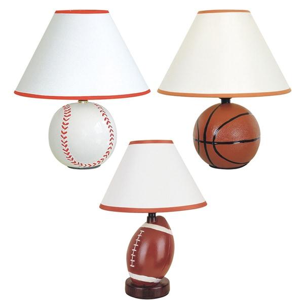 Journee home 12 inch allstar ceramic sport table lamp for 12 inch table lamp