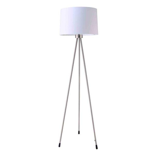 Journee Home 'Exposure' 59 inch Brushed Nickel Tripod Floor Lamp