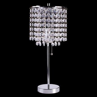 Journee Home 'Elegance' 19 inch Drop Crystal Table Lamp
