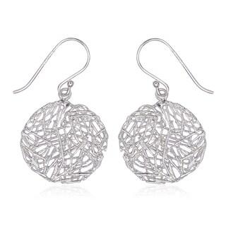 La Preciosa Sterling Silver Heart Designed Earrings