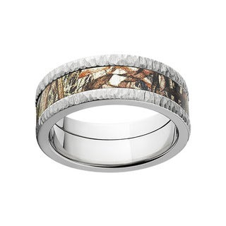 Mossy Oak Titanium Men's Camouflage Duck Blind Wedding Band (More options available)