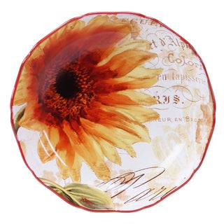 Certified International Paris Sunflower Serving/Pasta Bowl 13-inch x 3-inch