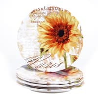 Certified International Paris Sunflower 11-inch Dinner Plate (Set of 4)