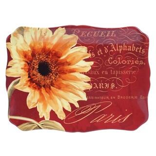 Certified International Paris Sunflower Rectangular Platter 16-inch x 12-inch