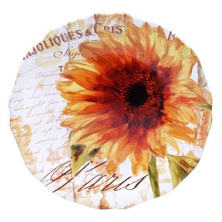 Certified International Paris Sunflower Round Platter 15-inch
