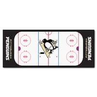 Fanmats Machine-made Pittsburgh Penguins White Nylon Rink Runner (2'5 x 6')