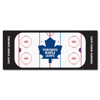 Fanmats Machine-made Toronto Maple Leafs White Nylon Rink Runner (2'5 x 6')