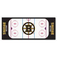Fanmats Machine-made Boston Bruins White Nylon Rink Runner (2'5 x 6')
