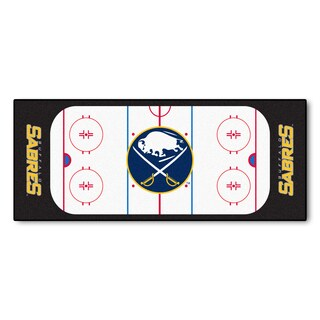 Fanmats Machine-made Buffalo Sabres White Nylon Rink Runner (2'5 x 6')