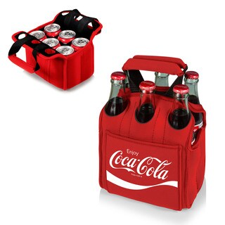Picnic Time Six Pack Beverage Carrier - Red (Coca-Cola)