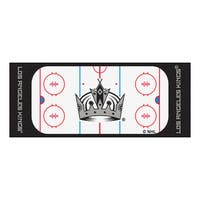 Fanmats Machine-made Los Angeles Kings White Nylon Rink Runner (2'5 x 6')
