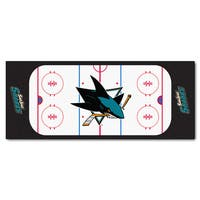 Fanmats Machine-made San Jose Sharks White Nylon Rink Runner (2'5 x 6')