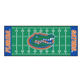 Fanmats Machine-made University of Florida Green Nylon Football Field Runner (2'5 x 6')