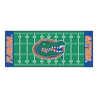 Fanmats Machine-made University of Florida Green Nylon Football Field Runner (2'5 x 6')