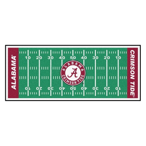 Fanmats Machine-made University of Alabama Green Nylon Football Field Runner (2'5 x 6')