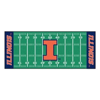 Fanmats Machine-made University of Illinois Green Nylon Football Field Runner (2'5 x 6')|https://ak1.ostkcdn.com/images/products/10119435/P17258209.jpg?impolicy=medium