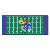 Fanmats Machine-made University of Kansas Green Nylon Football Field Runner (2'5 x 6')