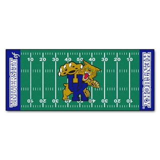 Fanmats Machine-made University of Kentucky Green Nylon Football Field Runner (2'5 x 6')